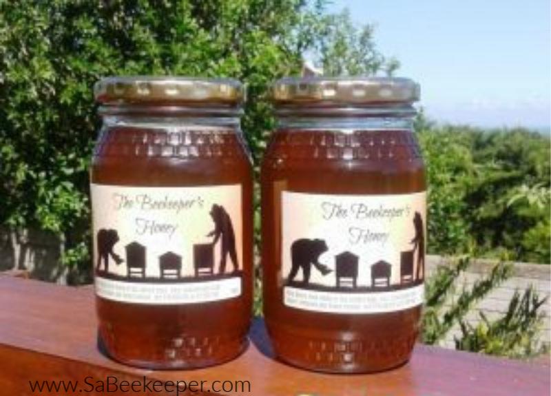 the beekeepers honey in honey jars