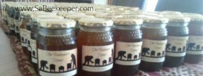 labeled and bottled organic pure honey