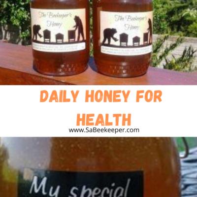 Daily Honey for Health Printable