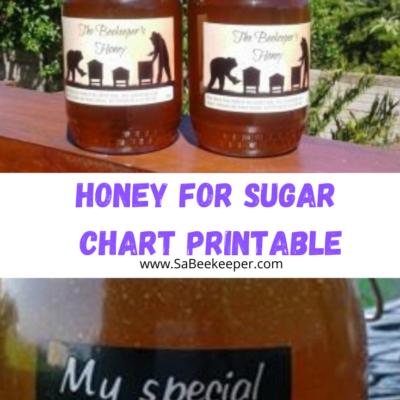 Honey for Sugar Chart Printable