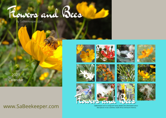 Flowers and Bees Calendar for 2021