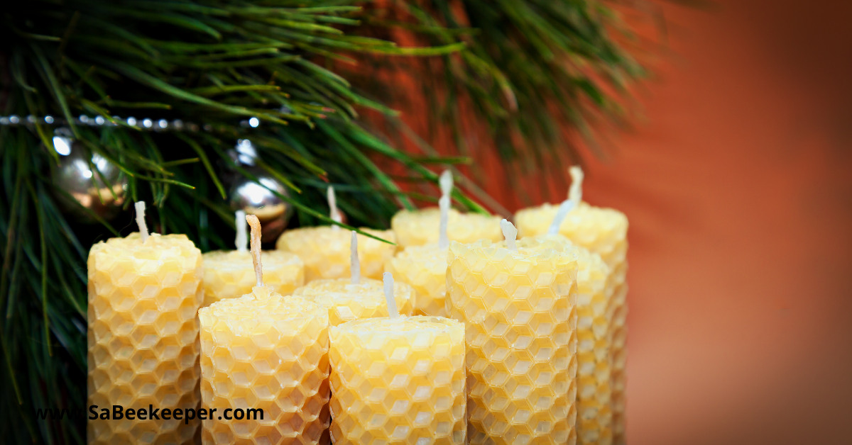 couple of bees wax candles