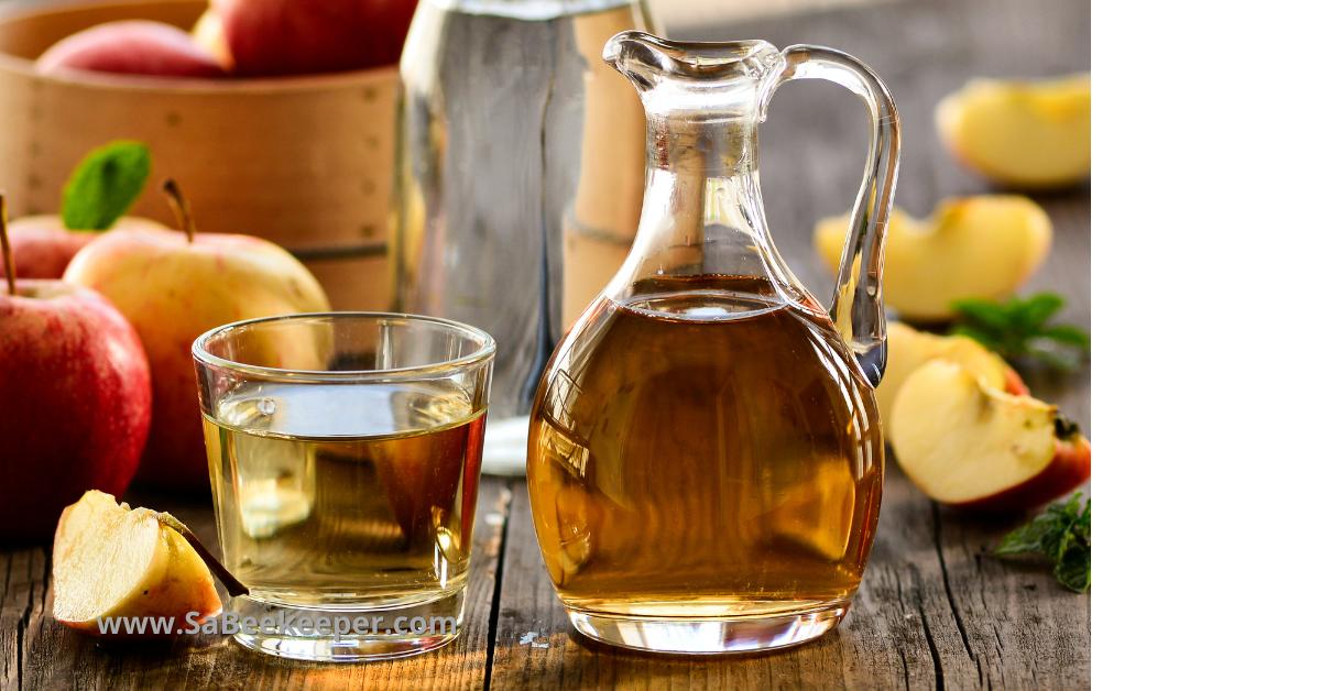 Honey apple cider vinegar drink tonic