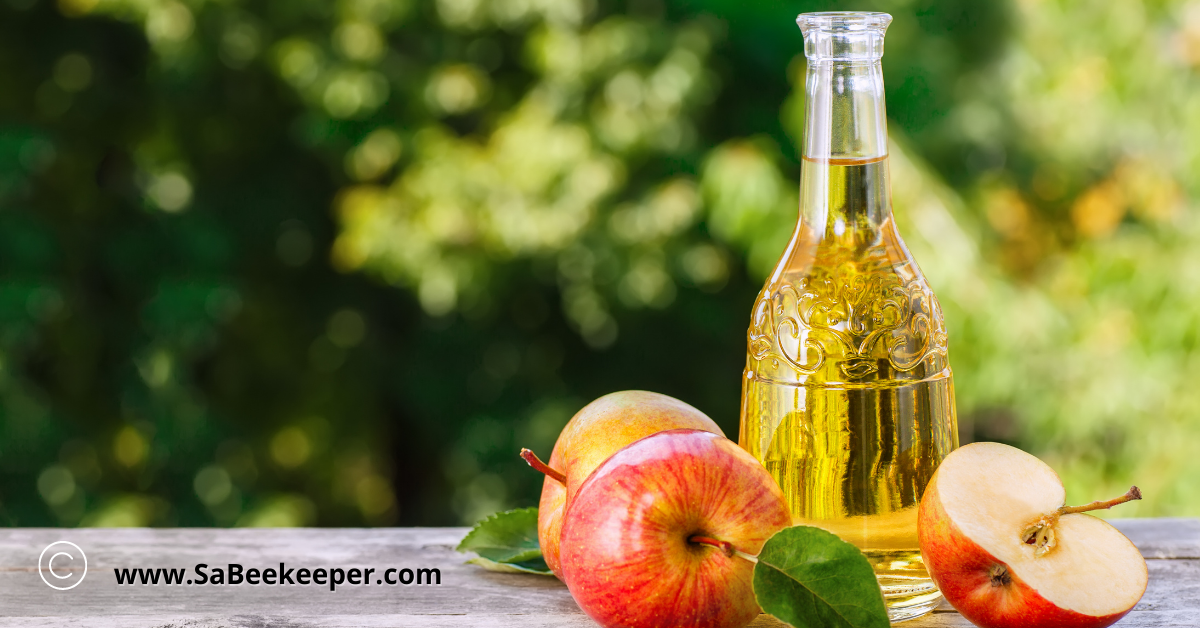 pure apple cider vinegar health drink
