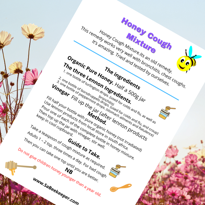 a printable for free of the honey cough remedy recipe